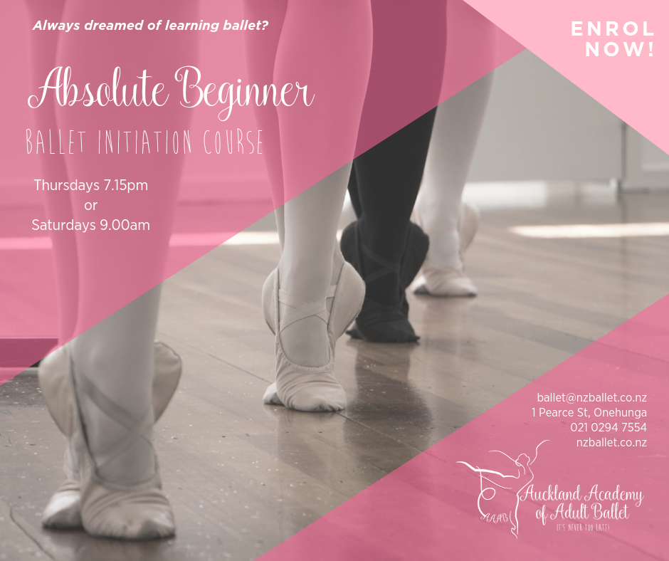 NEXT BALLET INITIATION COURSE (for total beginners) commences SATURDAY FEBRUARY 2ND 9AM